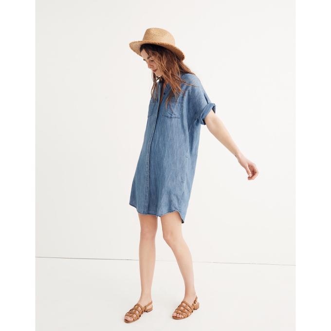 Shirt dress, short dress, straw hat, summer trend 2018