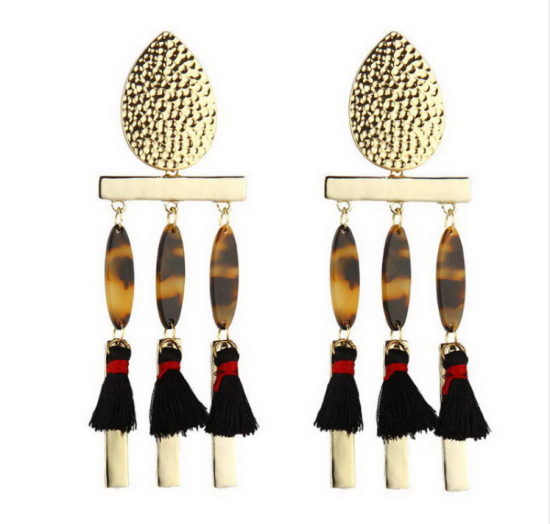Cheetah Print Dangle Earrings