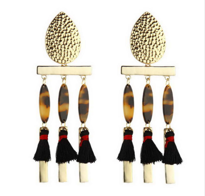 Cheetah Print Dangle Earrings